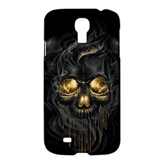 Art Fiction Black Skeletons Skull Smoke Samsung Galaxy S4 I9500/i9505 Hardshell Case