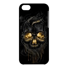 Art Fiction Black Skeletons Skull Smoke Apple Iphone 5c Hardshell Case