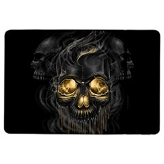 Art Fiction Black Skeletons Skull Smoke Ipad Air 2 Flip