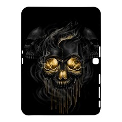 Art Fiction Black Skeletons Skull Smoke Samsung Galaxy Tab 4 (10 1 ) Hardshell Case