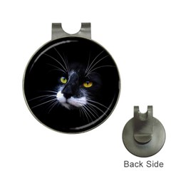 Face Black Cat Hat Clips With Golf Markers