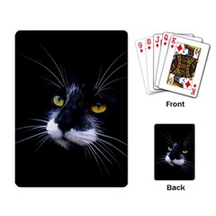 Face Black Cat Playing Card