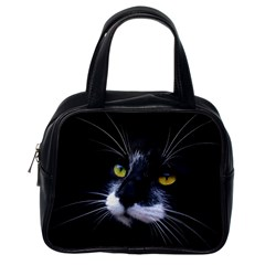Face Black Cat Classic Handbags (one Side)
