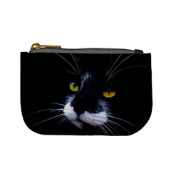 Face Black Cat Mini Coin Purses
