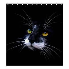 Face Black Cat Shower Curtain 66  X 72  (large)