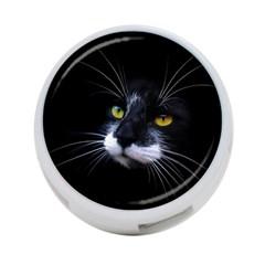 Face Black Cat 4 Port Usb Hub (two Sides)