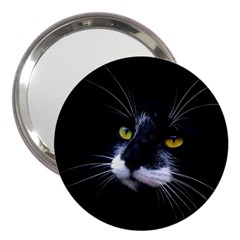 Face Black Cat 3  Handbag Mirrors