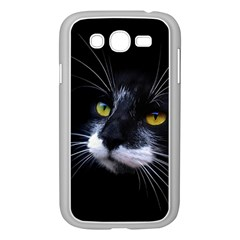 Face Black Cat Samsung Galaxy Grand Duos I9082 Case (white)