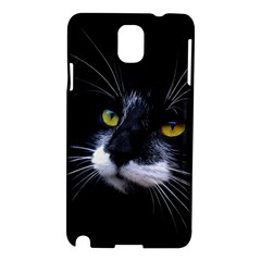 Face Black Cat Samsung Galaxy Note 3 N9005 Hardshell Case