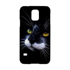 Face Black Cat Samsung Galaxy S5 Hardshell Case