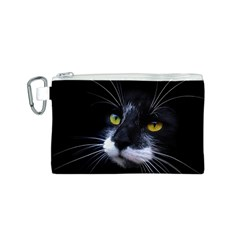 Face Black Cat Canvas Cosmetic Bag (s)