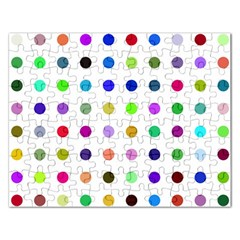 Circle Pattern Rectangular Jigsaw Puzzl