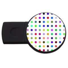 Circle Pattern Usb Flash Drive Round (4 Gb)