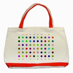 Circle Pattern Classic Tote Bag (red)
