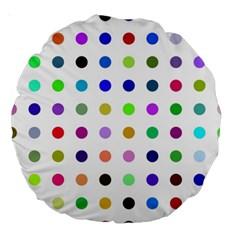 Circle Pattern Large 18  Premium Round Cushions