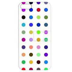 Circle Pattern Apple Iphone 5 Hardshell Case With Stand