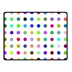 Circle Pattern Double Sided Fleece Blanket (small)