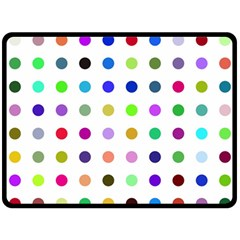 Circle Pattern Double Sided Fleece Blanket (large)