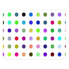 Circle Pattern Double Sided Flano Blanket (large)