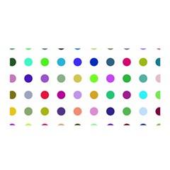 Circle Pattern Satin Wrap