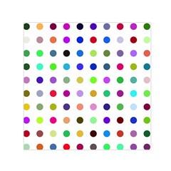 Circle Pattern Small Satin Scarf (square)