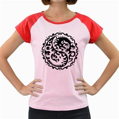 Ying Yang Tattoo Women s Cap Sleeve T Shirt