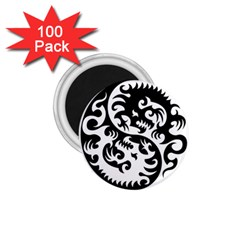 Ying Yang Tattoo 1 75  Magnets (100 Pack)