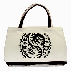 Ying Yang Tattoo Basic Tote Bag