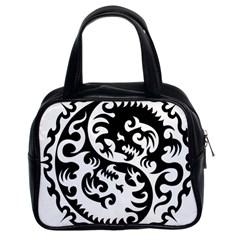 Ying Yang Tattoo Classic Handbags (2 Sides)