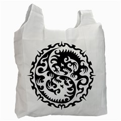 Ying Yang Tattoo Recycle Bag (two Side)