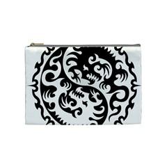 Ying Yang Tattoo Cosmetic Bag (medium)