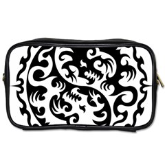 Ying Yang Tattoo Toiletries Bags 2 Side