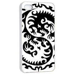 Ying Yang Tattoo Apple Iphone 4/4s Seamless Case (white)