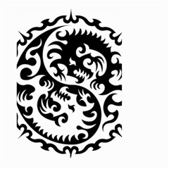 Ying Yang Tattoo Small Garden Flag (two Sides)