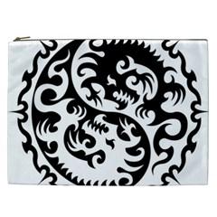 Ying Yang Tattoo Cosmetic Bag (xxl)