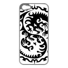 Ying Yang Tattoo Apple Iphone 5 Case (silver)