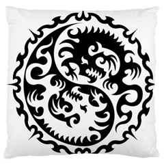 Ying Yang Tattoo Large Flano Cushion Case (one Side)