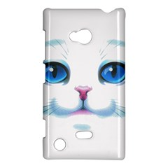 Cute White Cat Blue Eyes Face Nokia Lumia 720