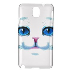 Cute White Cat Blue Eyes Face Samsung Galaxy Note 3 N9005 Hardshell Case