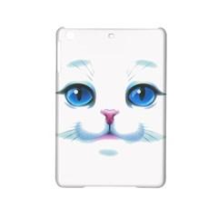 Cute White Cat Blue Eyes Face Ipad Mini 2 Hardshell Cases