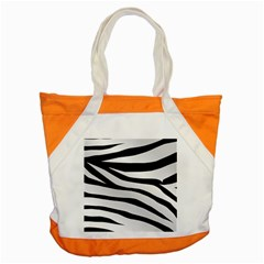 White Tiger Skin Accent Tote Bag