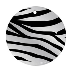 White Tiger Skin Round Ornament (two Sides)