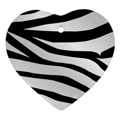 White Tiger Skin Heart Ornament (two Sides)