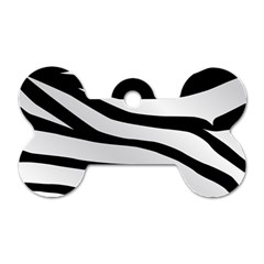 White Tiger Skin Dog Tag Bone (one Side)