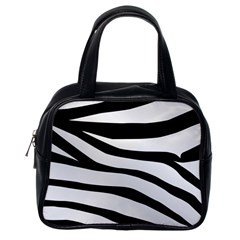 White Tiger Skin Classic Handbags (one Side)
