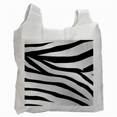 White Tiger Skin Recycle Bag (two Side)