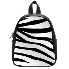 White Tiger Skin School Bags (small)