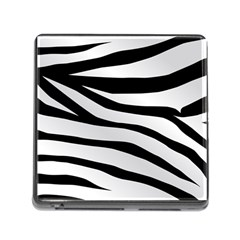 White Tiger Skin Memory Card Reader (square)