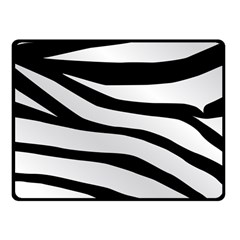 White Tiger Skin Fleece Blanket (small)