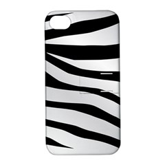 White Tiger Skin Apple Iphone 4/4s Hardshell Case With Stand